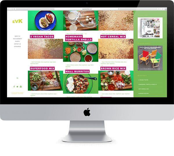 Website design for East Van Kitchen. Designed by Chris von Szombathy and produced by RXVP