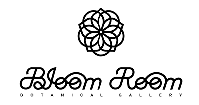 Logo and branding for Bloom Room Botanical Gallery. Designed by Chris von Szombathy and produced by RXVP
