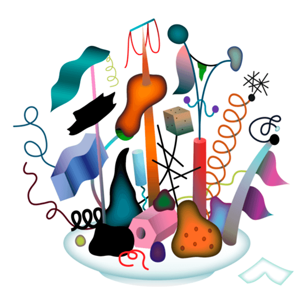 An Illustration by artist and designer Chris von Szombathy. Title: Dinner. Work from 2015–2017