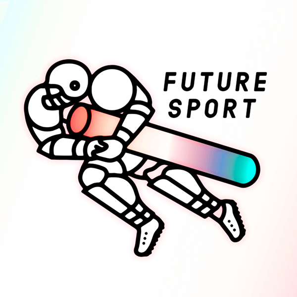 An Illustration by artist and designer Chris von Szombathy. Title: Future Sport. Work from 2015–2017