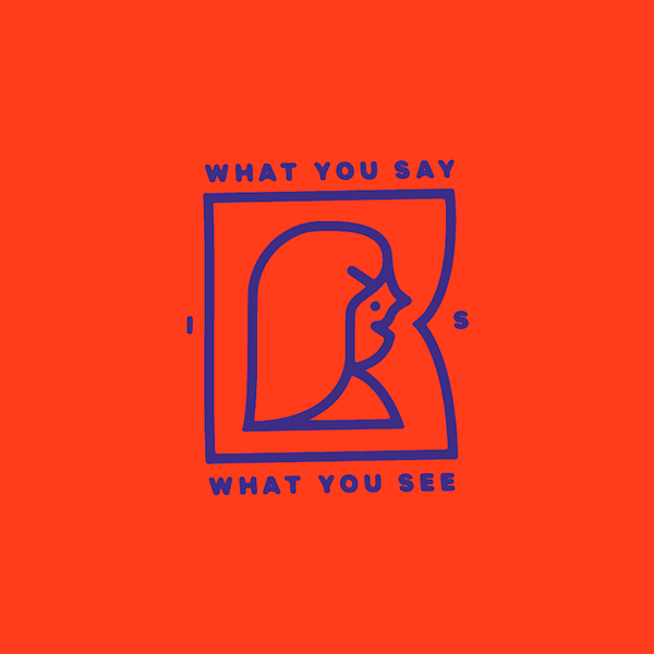 An Illustration by artist and designer Chris von Szombathy. Title: What You Say is What You See. Work from 2015–2017