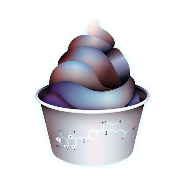 An Illustration by artist and designer Chris von Szombathy. Title: Soft-serve. Work from 2015–2017