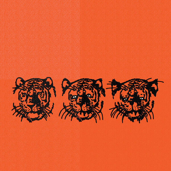 An Illustration by artist and designer Chris von Szombathy. Title: Tigers. Work from 2010–2015