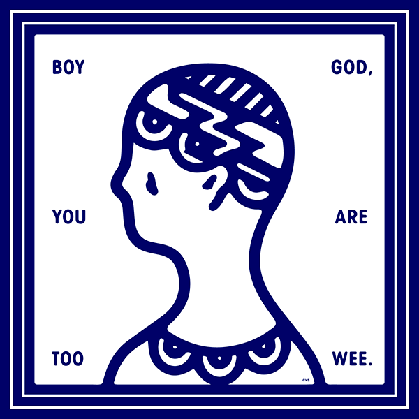 An Illustration by artist and designer Chris von Szombathy. Title: You. Work from 2015–2017
