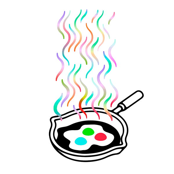 An Illustration by artist and designer Chris von Szombathy. Title: RGB. Work from 2015–2017