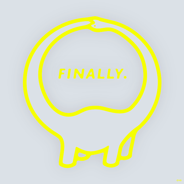 An Illustration by artist and designer Chris von Szombathy. Title: Finally. Work from 2015–2017