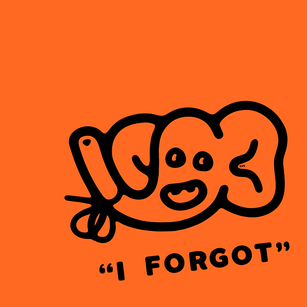 An Illustration by artist and designer Chris von Szombathy. Title: I Forgot. Work from 2015–2017