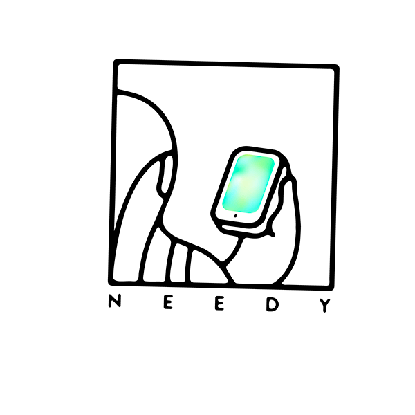 An Illustration by artist and designer Chris von Szombathy. Title: Needy. Work from 2015–2017