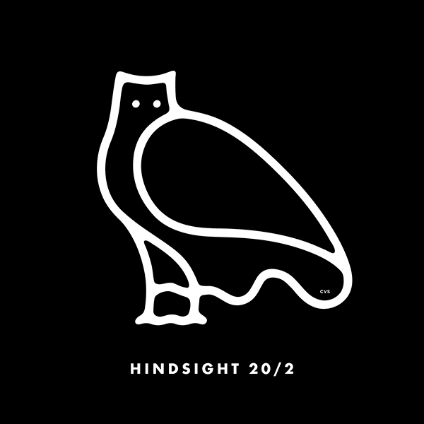 An Illustration by artist and designer Chris von Szombathy. Title: Hindsight 20/2. Work from 2015–2017