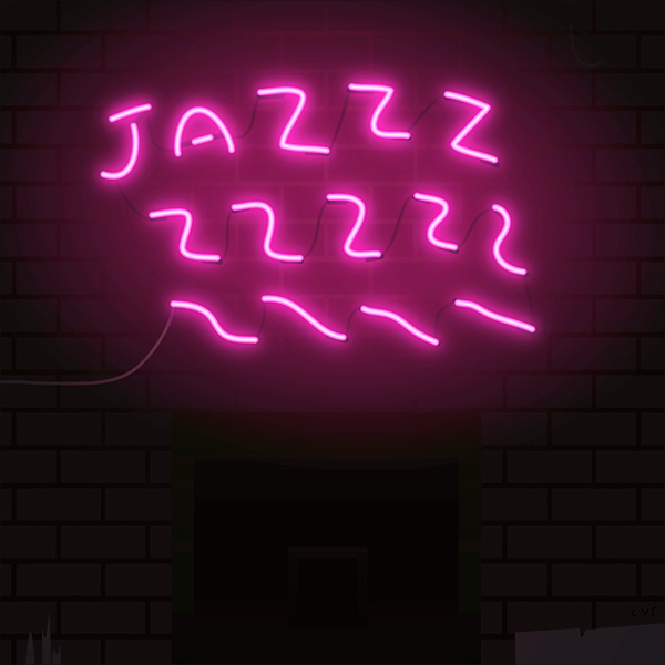 An Illustration by artist and designer Chris von Szombathy. Title: Jazzzzzzzz. Work from 2015–2017