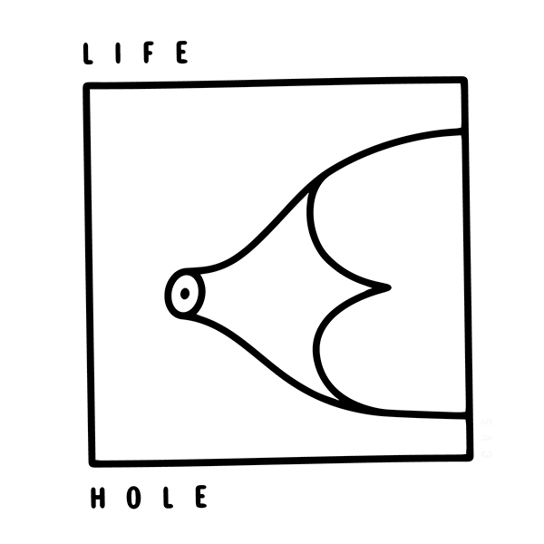 An Illustration by artist and designer Chris von Szombathy. Title: Life Hole. Work from 2015–2017