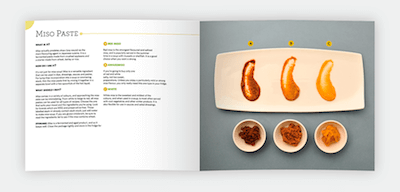"Page design for Japanese cookbook ""Let's Cooking"" by Hana Etsuko. Designed by Chris von Szombathy and produced by RXVP. 03"