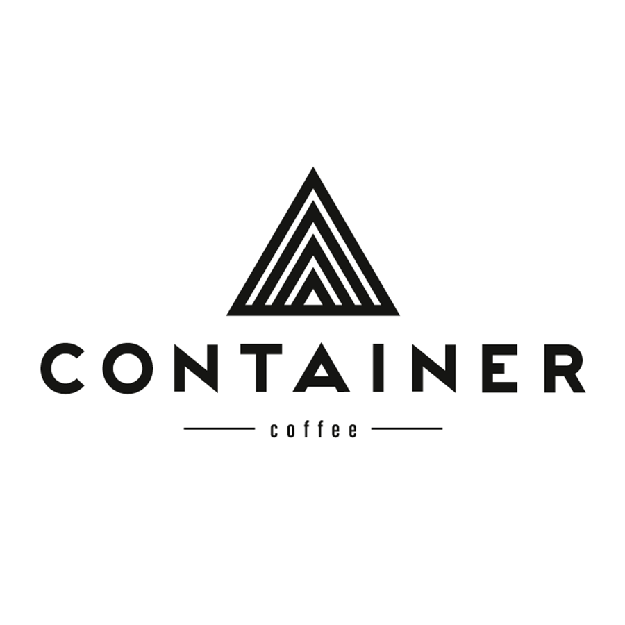 Logo and branding design for Container Coffee. Designed by Chris von Szombathy and produced by RXVP