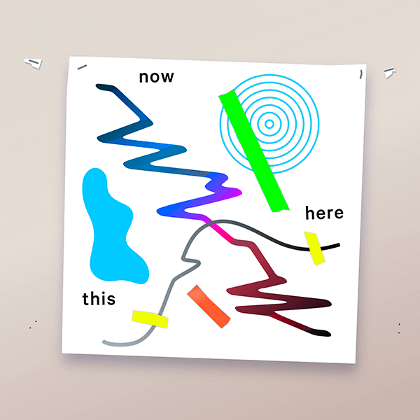 An Illustration by artist and designer Chris von Szombathy. Title: Now Here This. Work from 2015–2017