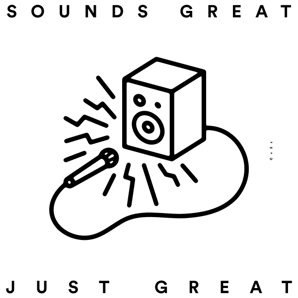 An Illustration by artist and designer Chris von Szombathy. Title: Sounds Great. Work from 2015–2017